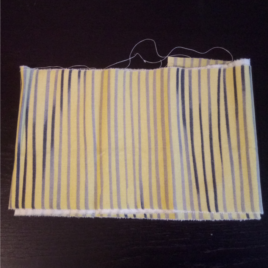 heup en schouderband: geel met strepen