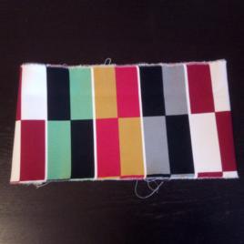 heup en schouderband: gekleurde rechthoeken